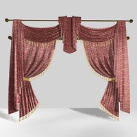 traditional curtain 6 3ds