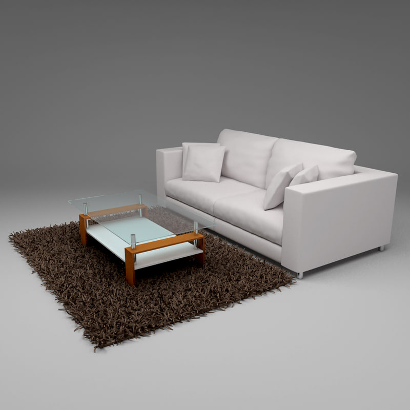 3ds max couch table carpet