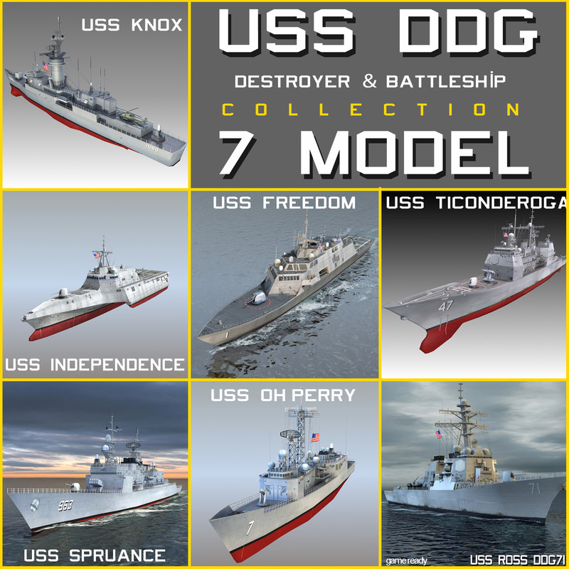 3ds uss dd destroyers ship