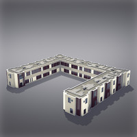 3d model modern generic building architectural