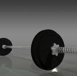 3d york barbell weights model