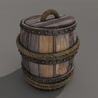 3d model barrel