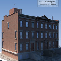 Low Poly New York Residential Building 5