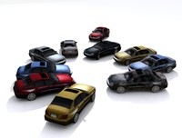 Collection Low poly cars