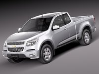 chevrolet colorado 2012 pickup 3ds