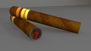 3d cigar cuba model