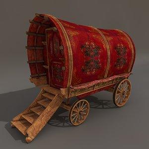 circus cart 3d model