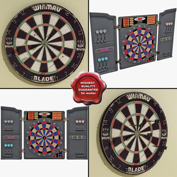 3d model dartboards electronic modelled