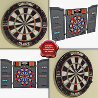 3d model dartboards electronic modelled