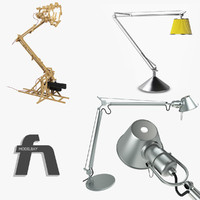 3d model lamps desk artemide