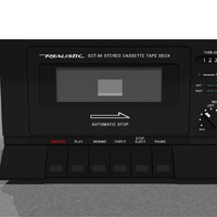 Tape Deck: Realistic SCT-86: C4D Model