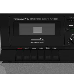 3d model tape deck