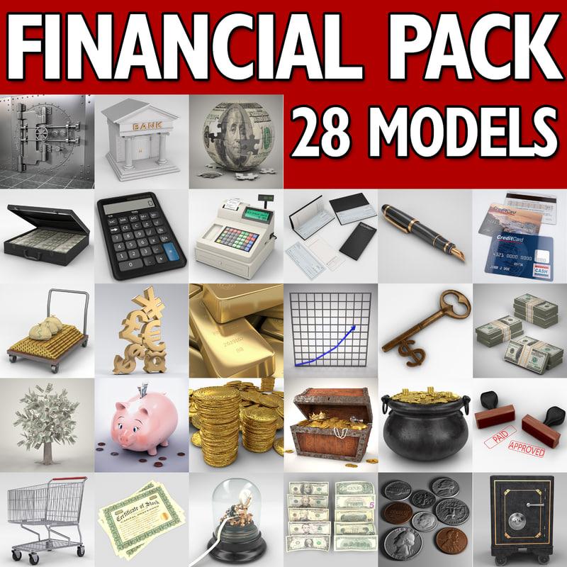 financial banking vault cash register 3d model