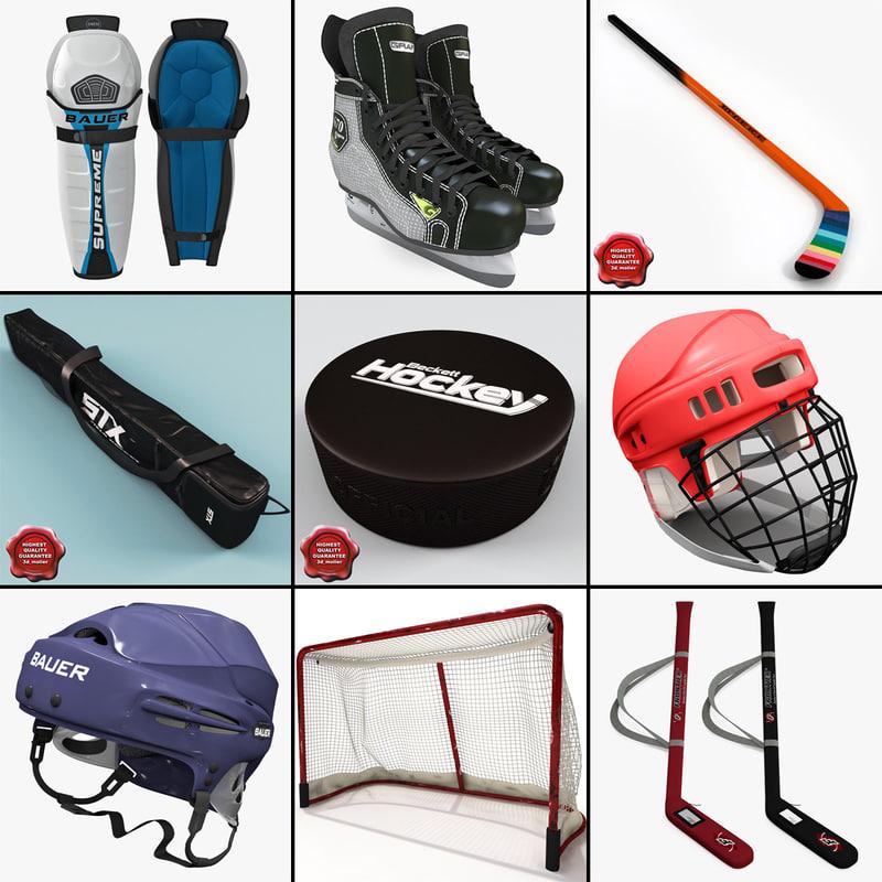3d hockey helmet model