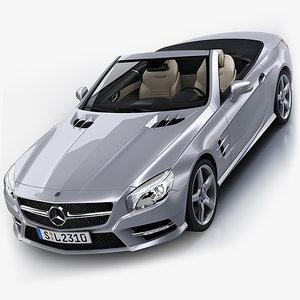 3d model mercedes-benz sl 2012