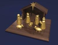 nativity scene 3d model