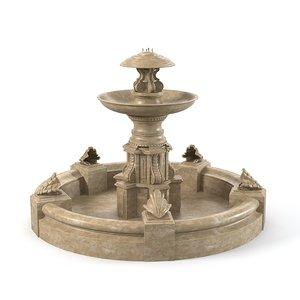 outdoor fountain 3d model