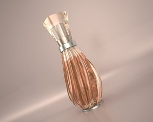 3d perfume bottle glass model