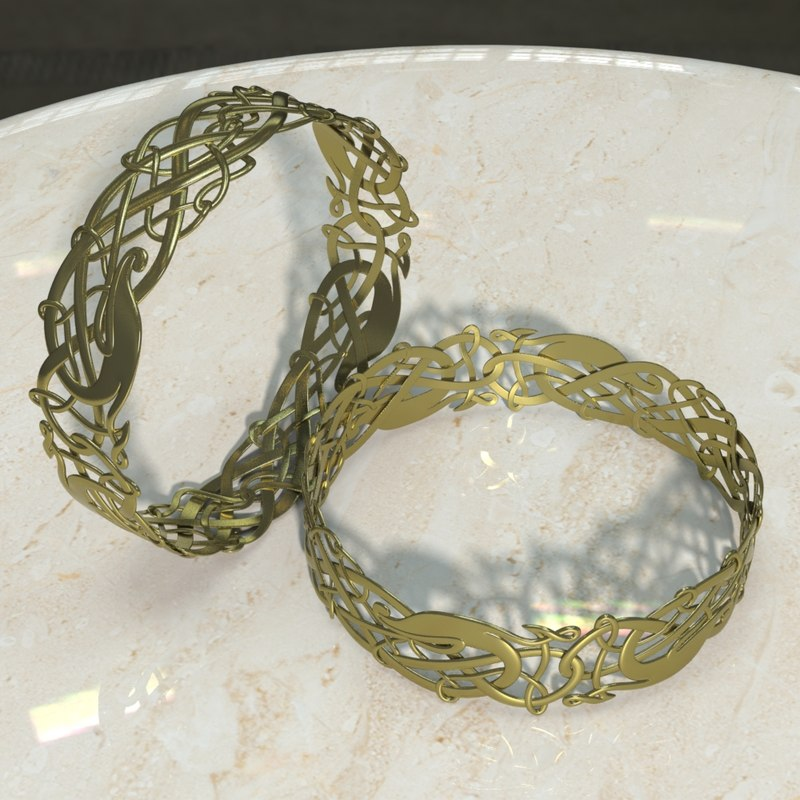 3d model viking bracelet