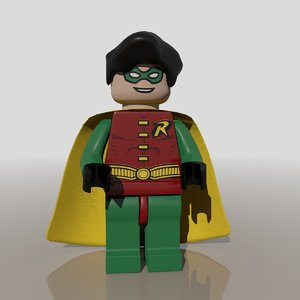 3d batman robin