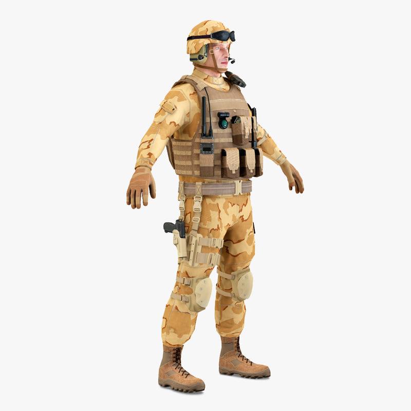 3d sas soldier static model