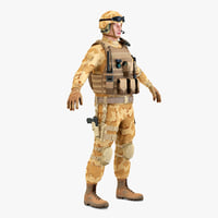 3d sas soldier static model