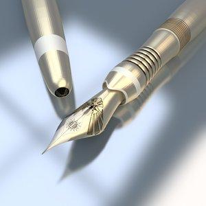 blender fountain pen