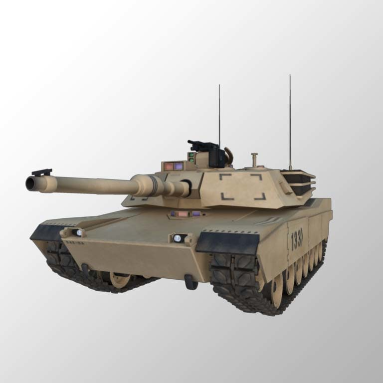 3d m1 abram tank model