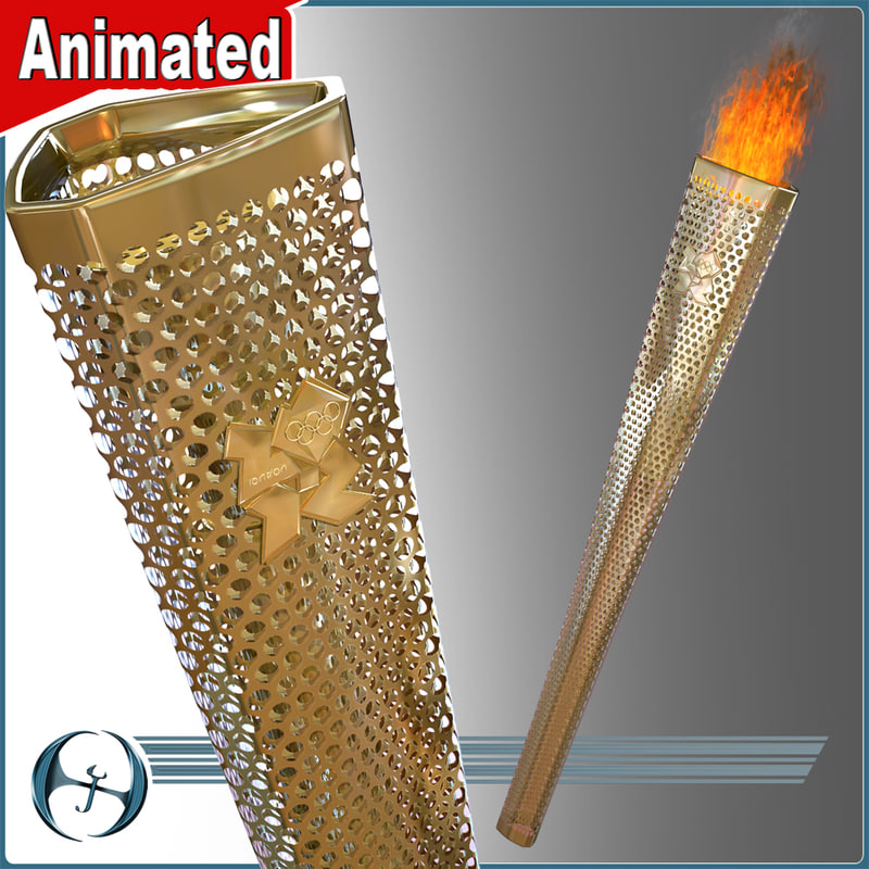 2012 olympics torch flame obj