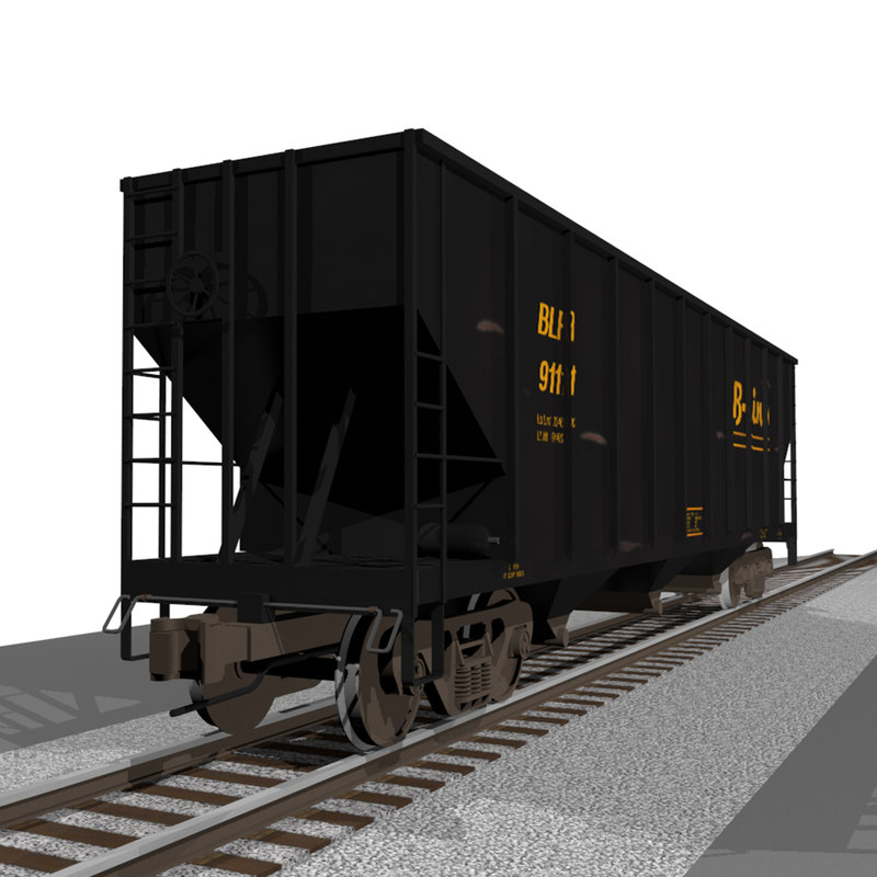 cinema4d train car coal