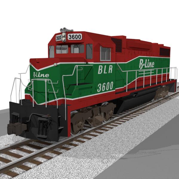 c4d train engine