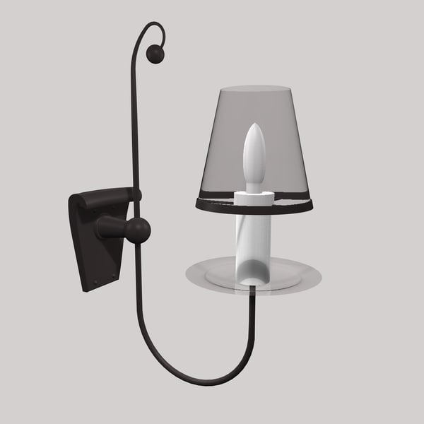 3ds gothic wall lamp light