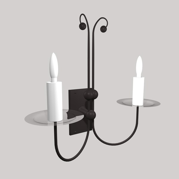 3d model of gothic wall lamp light