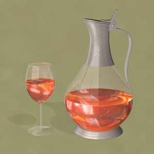 3d model wine pitcher