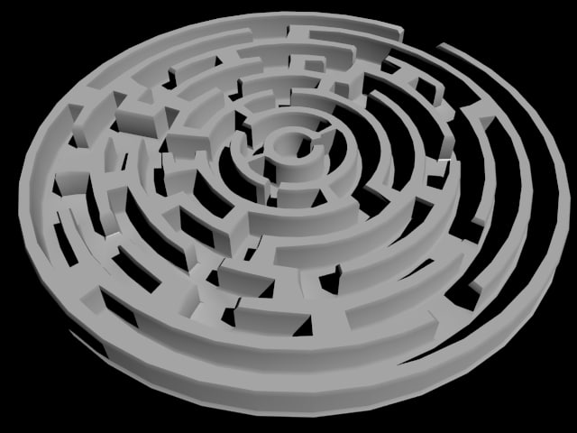 3d model circle labyrinth