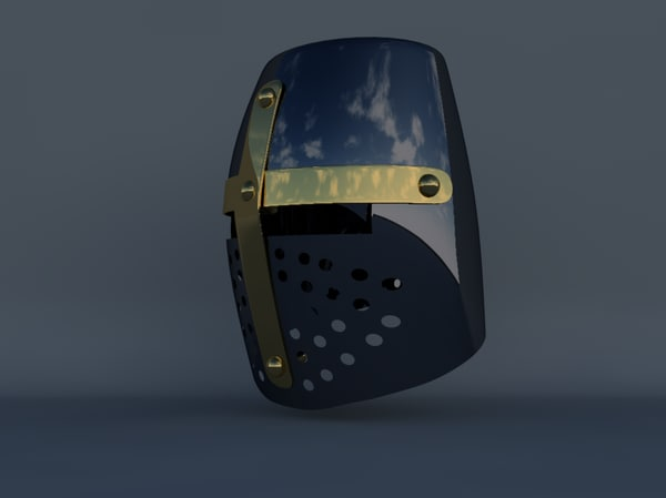 3d model of crusader helmet