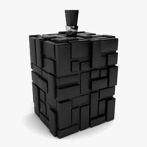 decorative square vase 3d 3ds