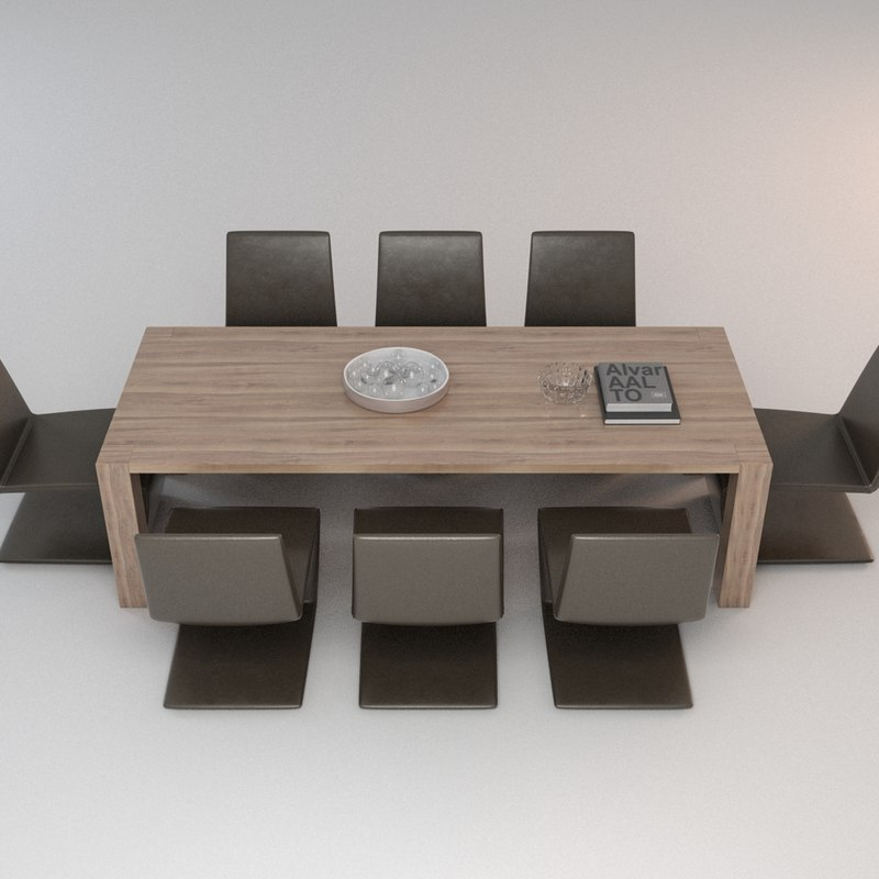 3d dining chairs model