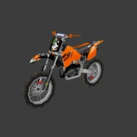 low poly dirt bike 09