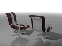 3d obj armchair chair