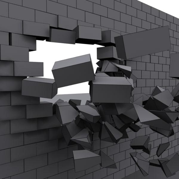 wall destroyed bricks max