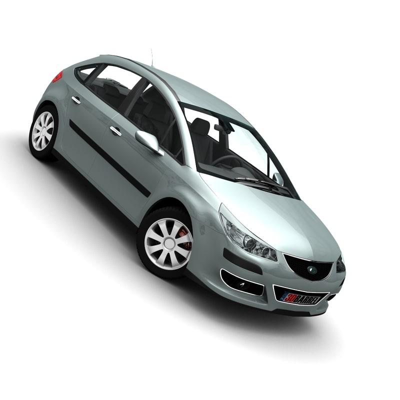 3d model generic car -