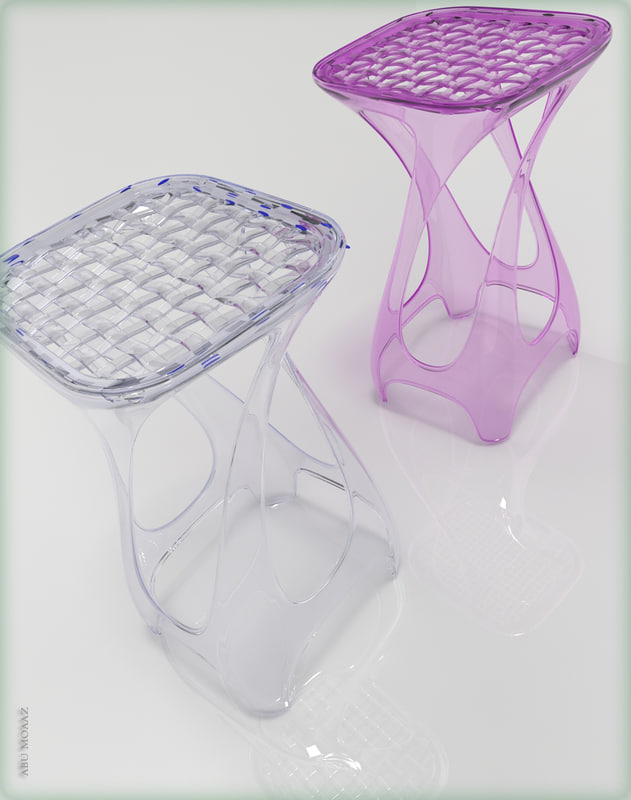 3ds max acrylic chair