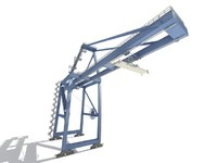 3d crane ports containers model