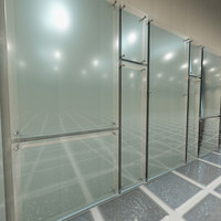 glass wall panel 3d model