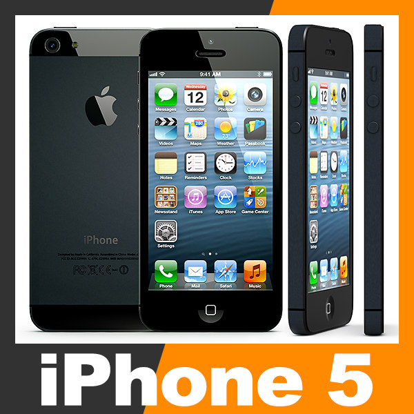 apple iphone 5 smartphone 3d model