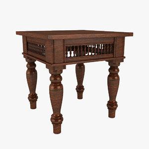 3dsmax maharaja end table