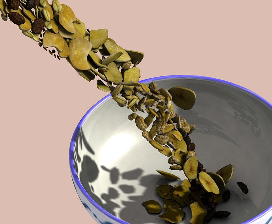 3d cereal muesli flakes