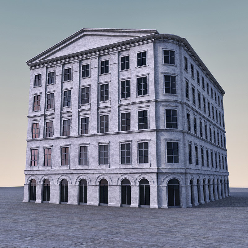 3d 3ds european building europe