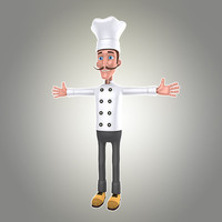 cartoon man chef max